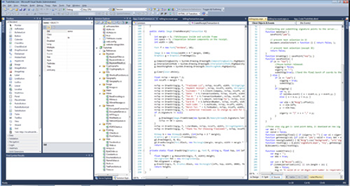 Screenshot of the development environment while working on a custom dynamic website.